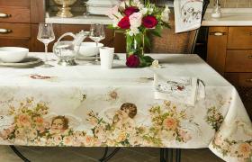 Практичная эстетика: выбираем кухонную скатерть
